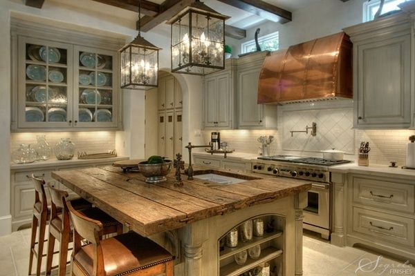Copper hood in Kitchen